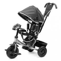 Gyerek háromkerekű bicikli  Baby Mix Lux Trike sötét szürke