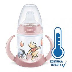 Baba tanuló itatópohár NUK Mici mackó hőmérséklet jelzővel 150 ml rózsaszín