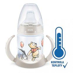 Baba tanuló itatópohár NUK Mici mackó hőmérséklet jelzővel 150 ml bézs