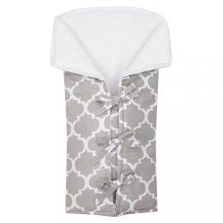 Klasszikus megkötős pólya New Baby JACKET szürke maroko