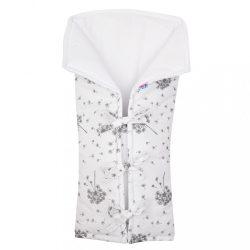 Klasszikus megkötős pólya New Baby JACKET pihe fehér