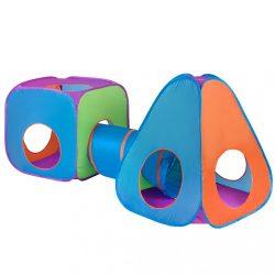 Gyermek sátor 3az1-ben Baby Mix 3 db narancs-kék