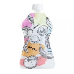Akuku újrahasználható ételtároló tasakok 150 ml 5 db