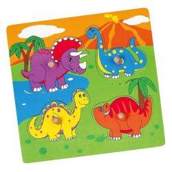 Fa fogantyús formaberakó puzzle Viga Dino (a csomagolás sérült)