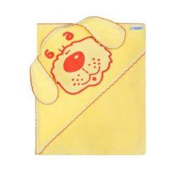 Gyerek törölköző (kifogó) kutyus 100x100 sárga