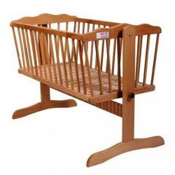 Bükkfafa bölcső New Baby Gabriela - természetes