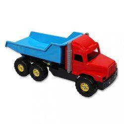 Játék homokozóba - kék-piros teherautó