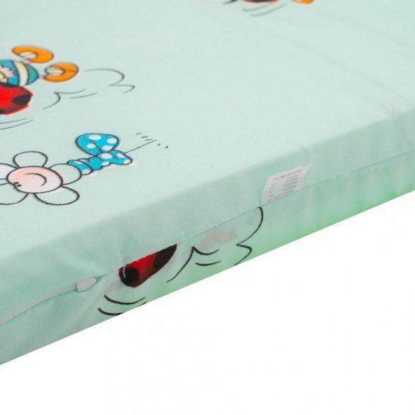 Gyerek habszivacs matrac New Baby 120x60 zöld - különféle minta