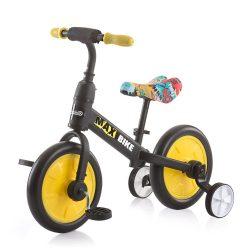 Chipolino Max Bike bicikli segédkerékkel - Yellow 2021