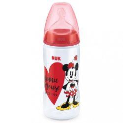 Baba cumisüveg NUK Disney Mickey 300ml Minnie piros KIÁRUSÍTÁS