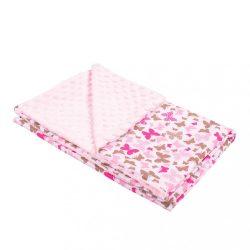 Gyermek pléd Minky New Baby rózsaszín 80x102 cm KIÁRUSÍTÁS