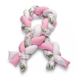 Fonott rácsvédő kiságyba Sensillo rózsaszín virágokkal KIÁRUSÍTÁS