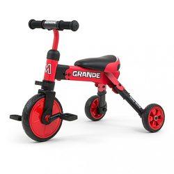 Gyerek háromkerekű bicikli Milly Mally Grande red KIÁRUSÍTÁS