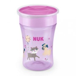 Bájos itató pohár Magic NUK 360° fedéllel pink KIÁRUSÍTÁS