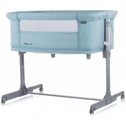 Chipolino Mommy 'n Me szülői ágyhoz csatlakoztatható kiságy - Blue Mint 2020