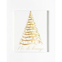 Egyedi névre szóló Falikép-Vászonkép - Arany karácsonyfa