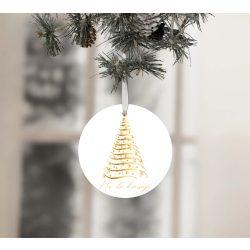 Egyedi névre szóló karácsonyfadísz - Arany karácsonyfa