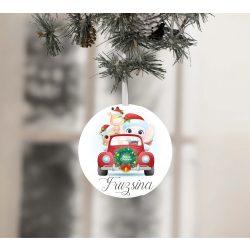 Egyedi névre szóló karácsonyfadísz - Irány karácsony Fánival