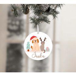 Egyedi névre szóló karácsonyfadísz - Fülés és Cirmi karácsonya