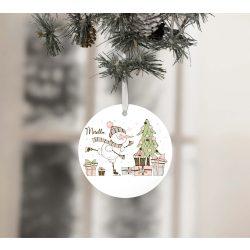 Egyedi névre szóló karácsonyfadísz - Vidám Hóember
