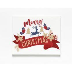Egyedi névre szóló Falikép-Vászonkép - Merry Christmas