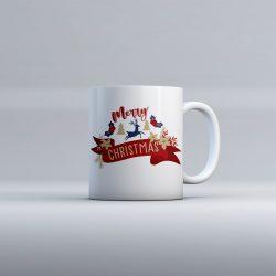 Egyedi névre szóló kerámia bögre - Merry Christmas