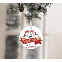 Egyedi névre szóló karácsonyfadísz - Merry Christmas
