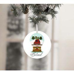 Egyedi névre szóló karácsonyfadísz - Hógömb