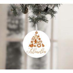 Egyedi névre szóló karácsonyfadísz - Mézeskalács