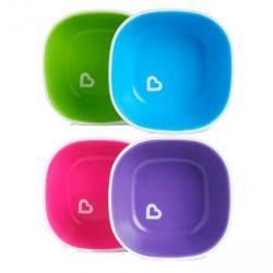 Munchkin Splash™ 2db-os tálka szett - pink & lila vagy zöld & kék