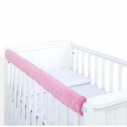 MTT Velvet kiságyvédő felső részre - Pasztell rózsaszín