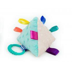 MTT Piramis plüss játék - Menta-szürke