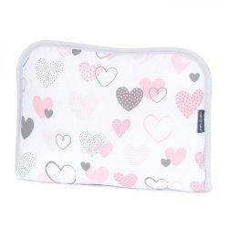 MTT Hordozható pelenkázó lap - Fehér alapon rózsaszín szívek