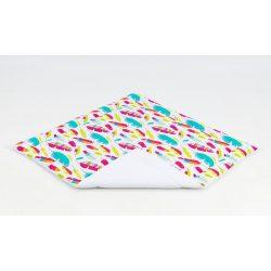 MTT Textil játszószőnyeg 116x116 - Fehér alapon színes tollak