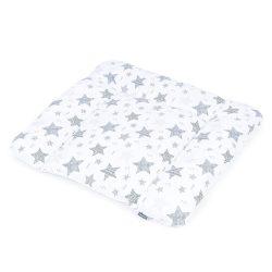 MTT Puha pelenkázó lap - Fehér alapon - Szürke csillagok