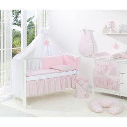 MTT Velvet Baldachin függöny - Rózsaszín csillaggal