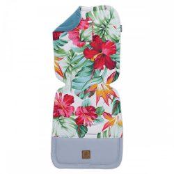 MTT Babakocsi betét - Trópusi virágok - Nepáli zöld háttal