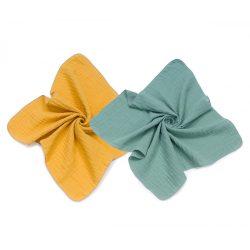MTT Textil pelenka 2 db - Mustár és pasztell zöld