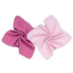 MTT Textil pelenka 2 db - Mályva és rózsaszín