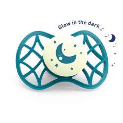 Nuvita Air.55 Cool! éjszakai cumi védőkupakkal 0hó+ - Glow Emerald - 7065
