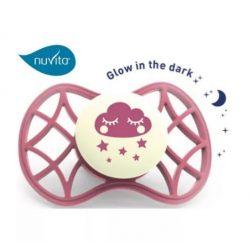 Nuvita Air.55 Cool! éjszakai cumi védőkupakkal 0hó+ - Glow Spiced Apple - 7065