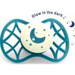Nuvita Air.55 Cool! éjszakai fogszabályzós cumi védőkupakkal 0hó+ - Glow Emerald - 7064