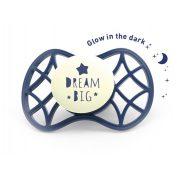 Nuvita Air.55 Cool! éjszakai fogszabályzós cumi védőkupakkal 6hó+ - Glow Blue Moon - 7084