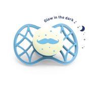 Nuvita Air.55 Cool! éjszakai fogszabályzós cumi védőkupakkal 6hó+ - Glow Dusk Blue - 7084