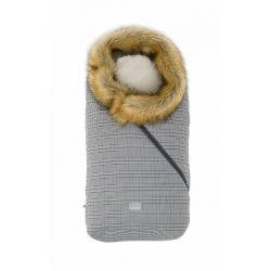 Nuvita AW Ovetto Pop bundazsák szőrmével 80cm - Prince of Wales / Beige - 9236