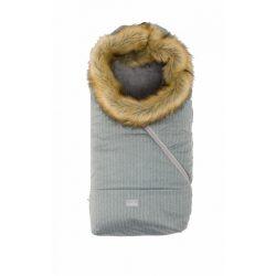 Nuvita AW Ovetto Pop bundazsák szőrmével 80cm - Pinstripe Gray / Beige - 9236