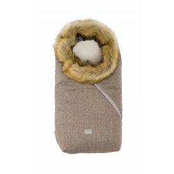 Nuvita AW Ovetto Pop bundazsák szőrmével 80cm - Melange Biscuit / Beige - 9236