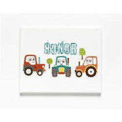 Egyedi névre szóló Falikép-Vászonkép - Traktoros