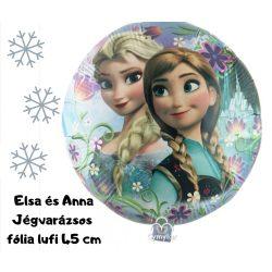 Elsa&Anna Jégvarázs fólia lufi 45 cm - Frozen