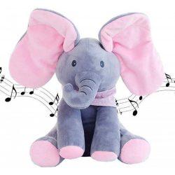 Unique Baby - Interaktív - Éneklő Plüss Elefánt - Floppy